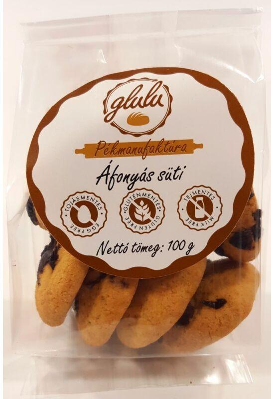 Glulu - Áfonyás süti 100 g