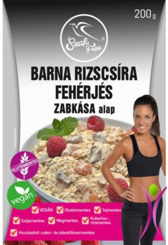 Szafi Free barna rizscsíra fehérjés zabkása alap 200 g