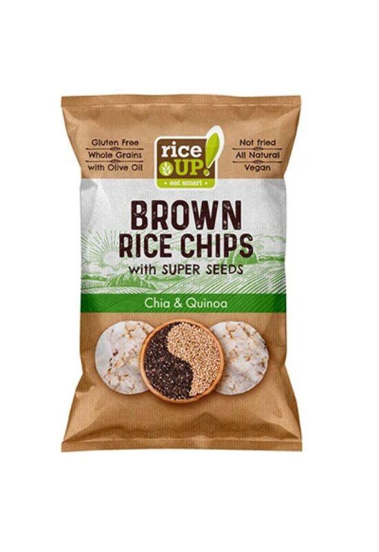 Rice Up Barna Rizs Chips Chia & Quinoa 25 g