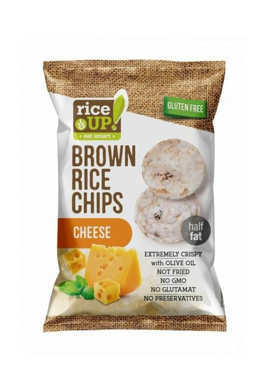 Rice Up Barna Rizs Chips Sajtos 60 g