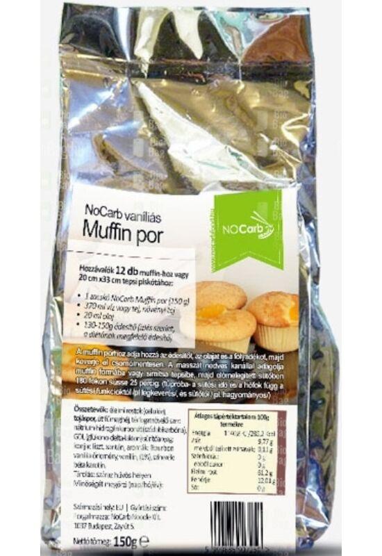 No Carb - Muffin Por Kakaós, Vaníliás 150 g
